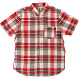 Element Aftermath Buttonup T-Shirt - Size: SMALL Brick Red Plaid | Universo Extremo Boards Skate & Surf