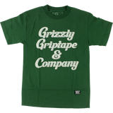 Grizzly Grizzly & Co Short Sleeve T-Shirt - L-Hunter Green | Universo Extremo Boards Skate & Surf