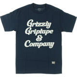 Grizzly Grizzly & Co Short Sleeve T-Shirt - XL-Navy | Universo Extremo Boards Skate & Surf