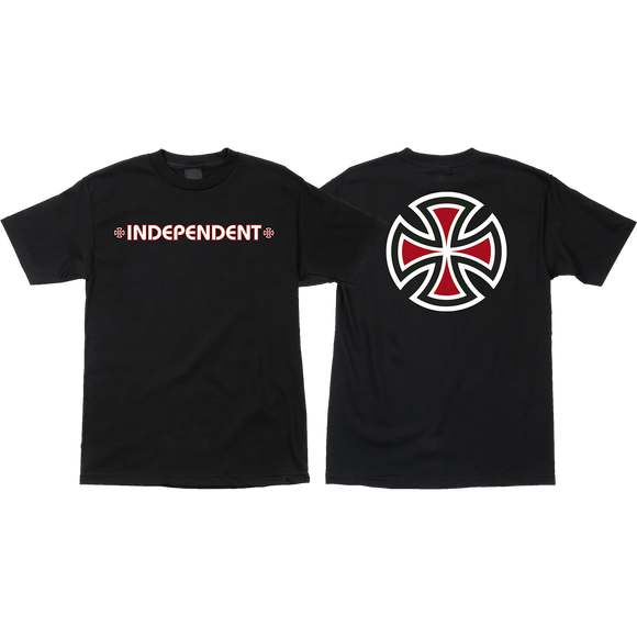 Independent Bar/Cross T-Shirt - Size: SMALL Black