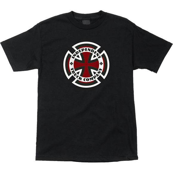 Independent Ringed Cross T-Shirt - Size: SMALL Black