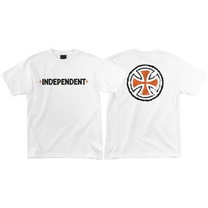 Independent Rough B/C T-Shirt - Size: SMALL White
