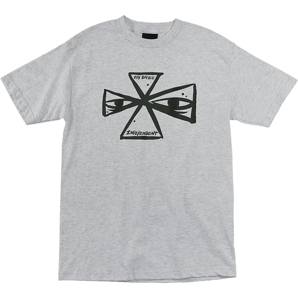 Independent Barbee Cross T-Shirt - Size: SMALL Athletic Heather