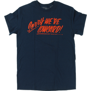 Lowcard Sorry T-Shirt - Size: SMALL Navy
