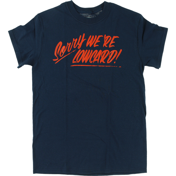 Lowcard Sorry T-Shirt - Size: X-LARGE Navy