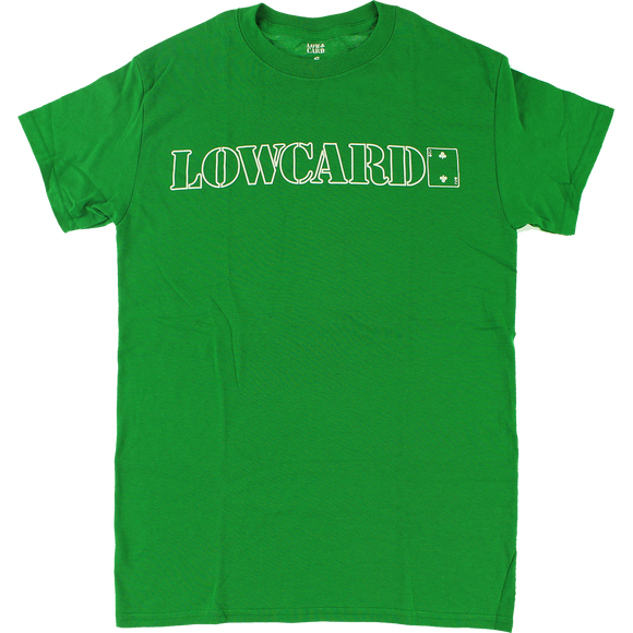 Lowcard Standard Line T-Shirt - Size: MEDIUM Green