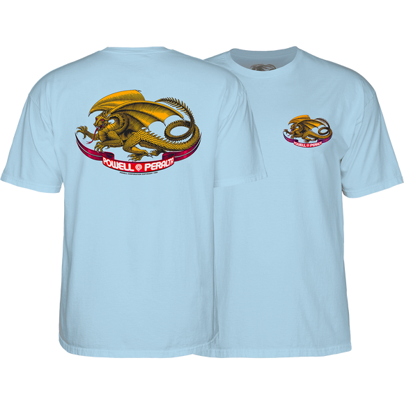 Powell Peralta Oval Dragon T-Shirt - Size: SMALL Powder Blue