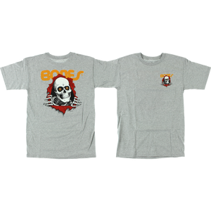 Powell Peralta Ripper T-Shirt - Size: LARGE Heather Grey