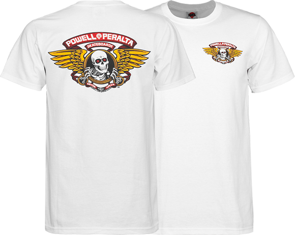 Powell Peralta Winged Ripper T-Shirt - Size: MEDIUM White