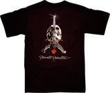 Powell Peralta Skull & Sword T-Shirt - Size: SMALL Black | Universo Extremo Boards Skate & Surf