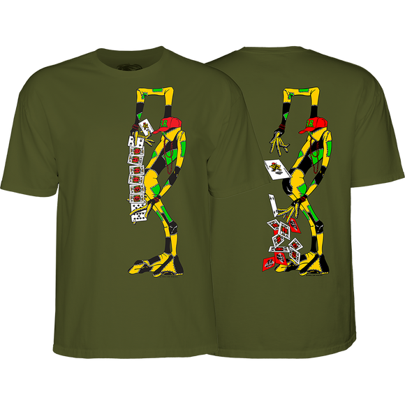Powell Peralta Ray Barbee Rag Doll T-Shirt - Size: MEDIUM Military Green