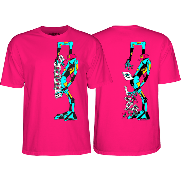 Powell Peralta Ray Barbee Rag Doll T-Shirt - Size: LARGE Hot Pink