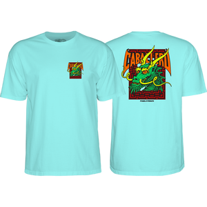 Powell Peralta Cab Street Dragon T-Shirt - Size: MEDIUM Celadon Green