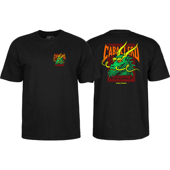 Powell Peralta Cab Street Dragon T-Shirt - Size: LARGE Black