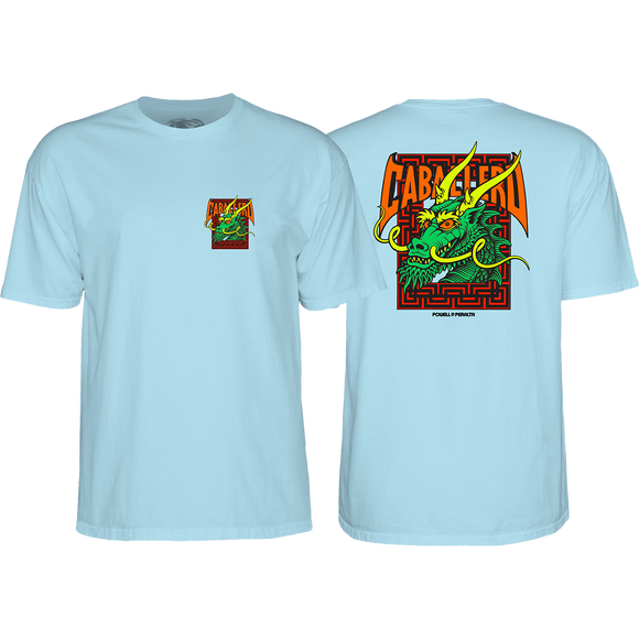 Powell Peralta Cab Street Dragon T-Shirt - Size: LARGE Powder Blue