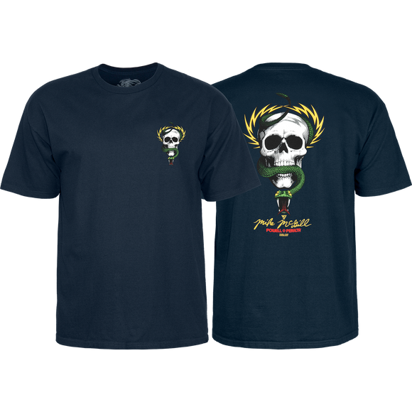 Powell Peralta Mcgill Skull & Snake T-Shirt - Size: X-LARGE Navy