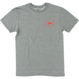 Primitive Circle Pennant T-Shirt - Size: X-LARGE Athletic Heather | Universo Extremo Boards Skate & Surf