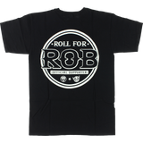 Real Ar Roll For Rob T-Shirt - MEDIUM Black | Universo Extremo Boards Skate & Surf