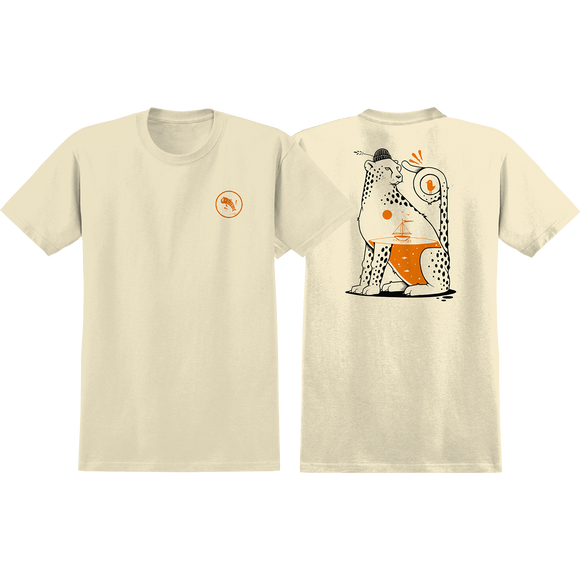 Real Jeremy Fish T-Shirt - Size: MEDIUM Cream