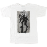 Real Revolt T-Shirt - Size: X-LARGE White/Black | Universo Extremo Boards Skate & Surf