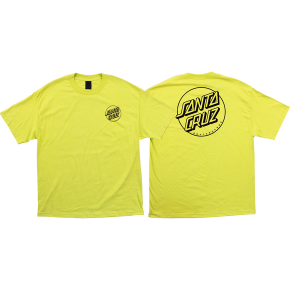 Santa Cruz Opus Dot T-Shirt - Size: MEDIUM Safety Green