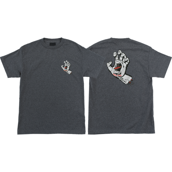 Santa Cruz Screaming Hand T-Shirt - Size: SMALL Charcoal Heather