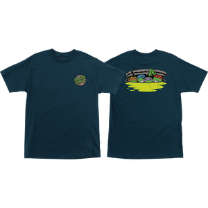 Santa Cruz Tmnt Ninja Turtles Logo T-Shirt - Size: X-LARGE Harbor Blue
