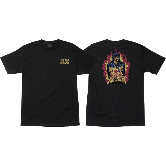 Santa Cruz Knox Fire Pit T-Shirt - Size: MEDIUM Black
