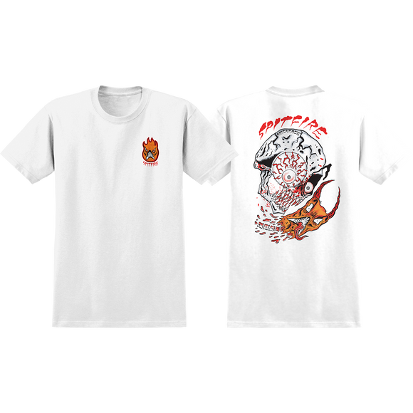 Spitfire Neckface Broke Off T-Shirt - Size: SMALL White