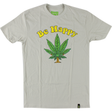 Shake Junt Be Happy T-Shirt - Size: SMALL Sand Off White | Universo Extremo Boards Skate & Surf