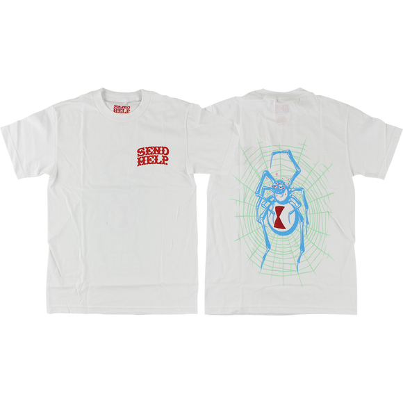 Send Help White Widow T-Shirt - Size: SMALL White