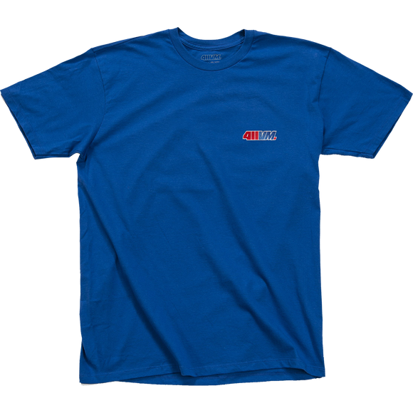 Transworld 411vm Embroidered T-Shirt - Size: SMALL Blue