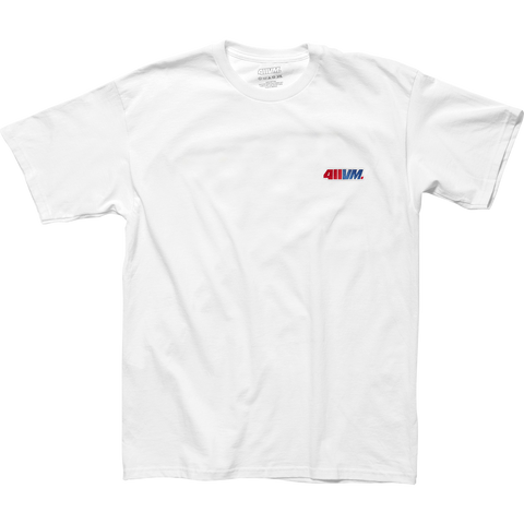 Transworld 411vm Embroidered T-Shirt - Size: SMALL White