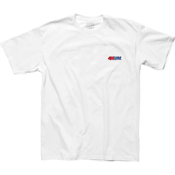 Transworld 411vm Embroidered T-Shirt - Size: MEDIUM White