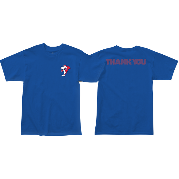Thank You Shark Snack T-Shirt - Size: SMALL Blue