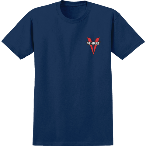 Venture Heritage V T-Shirt - Size: SMALL Navy/Red
