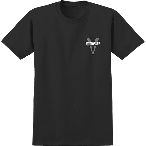 Venture Heritage V T-Shirt - Size: SMALL Black/Grey
