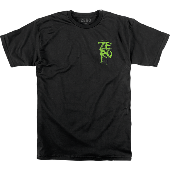 Zero Blood Stacked T-Shirt - Size: SMALL Black