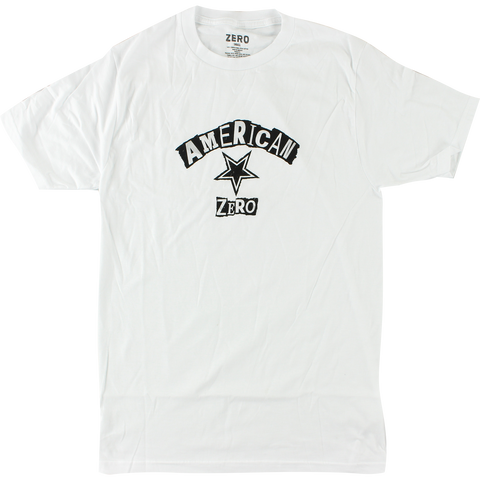 Zero Ransom Note T-Shirt - Size: SMALL White/Black