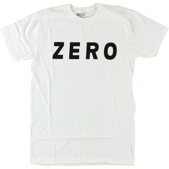 Zero Army Logo T-Shirt - Size: X-LARGE White/Black
