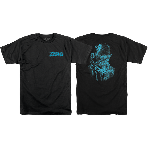 Zero Thomas Zombie Backprint T-Shirt - Size: MEDIUM Black/Blue