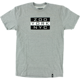 Zoo Kings Golden Era Flag Short Sleeve S-Heather Grey T-Shirt  | Universo Extremo Boards Skate & Surf