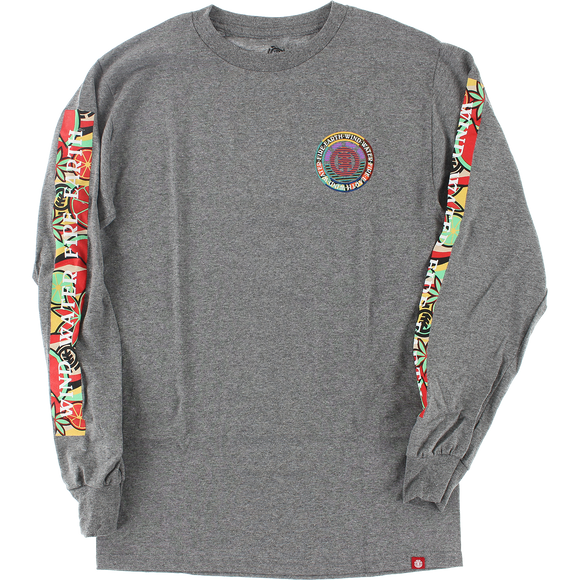 Ele Spirted Long Sleeve X-LARGE Grey Heather Shirt