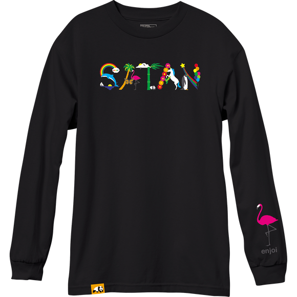 Enjoi Satan Long Sleeve SMALL Black Shirt