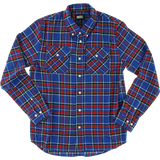 Grizzly Tundra Button-Up Long Sleeve SMALL Blue Plaid Shirt  | Universo Extremo Boards Skate & Surf
