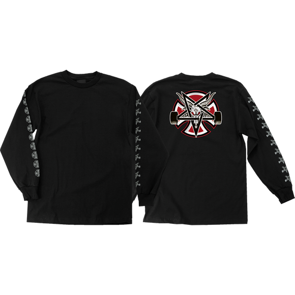 Independent Thrasher Pentagram Cross Long Sleeve MEDIUM Black Shirt