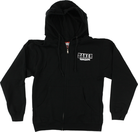 Sweatshirt Baker Brand Logo Zip/Hooded M-Black/White - Universo Extremo Boards