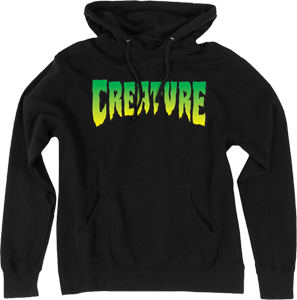 Creature Logo Hooded Sweatshirt - SMALL Black