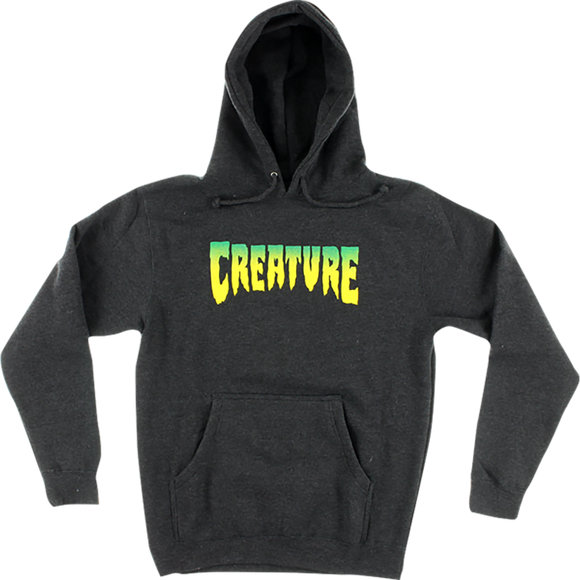 Creature Logo Hooded Sweatshirt - SMALL Charcoal Heather