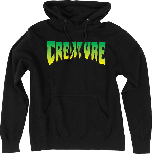 Creature Logo Hooded Sweatshirt - MEDIUM Black
